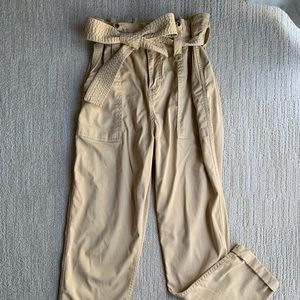 NWOT Topshop paper bag waist pants